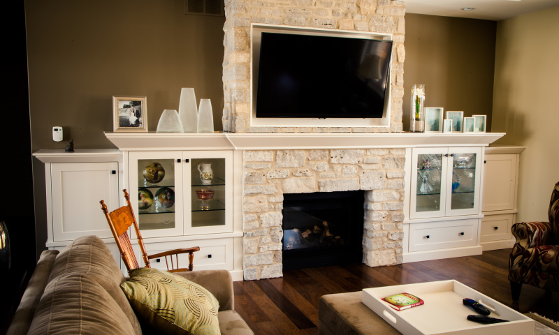 Woodecor Custom Painted Wall Unit
