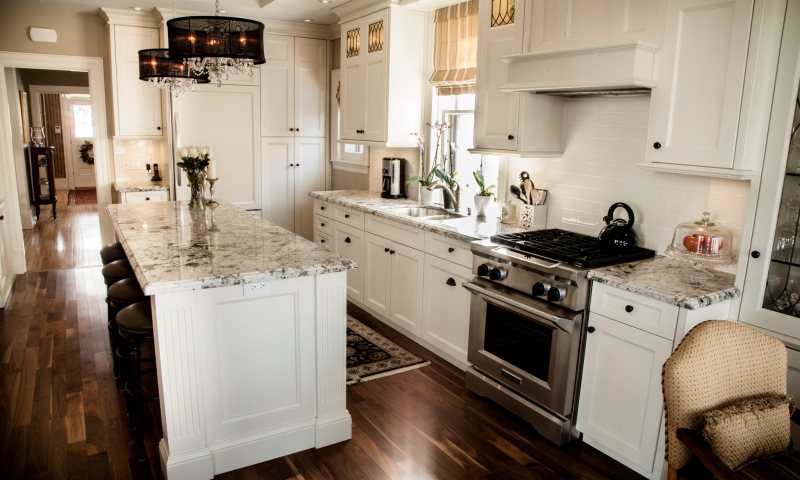 Woodecor Custom Painted Kitchen and Banquette