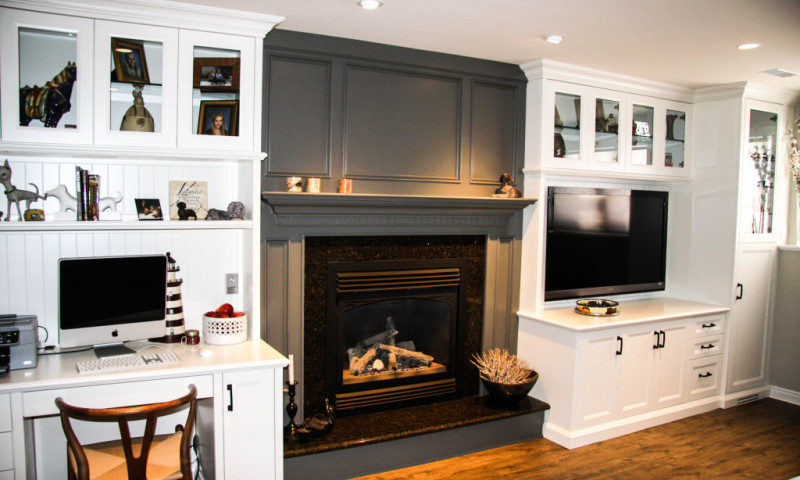 Two Tone Painted Wall Unit