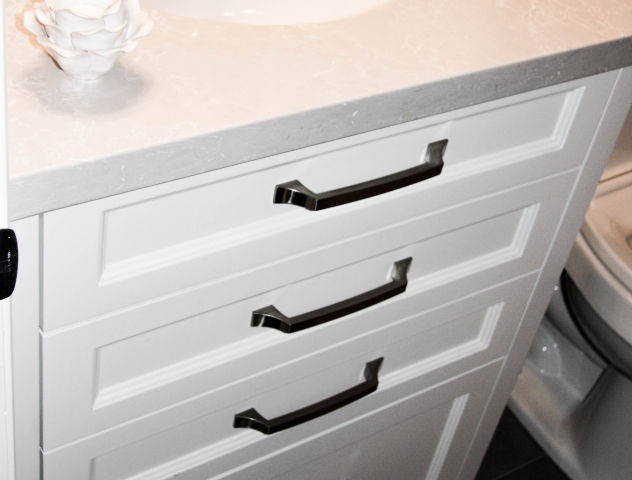 Painted Vanity with Quartz Countertop