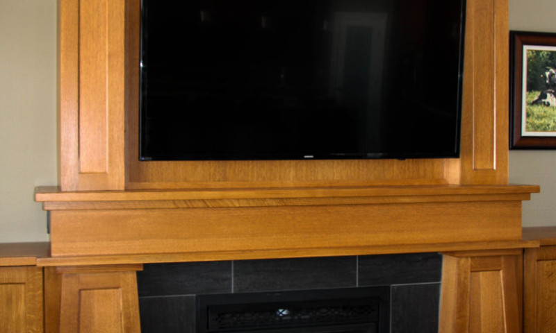 White Oak Wall Unit
