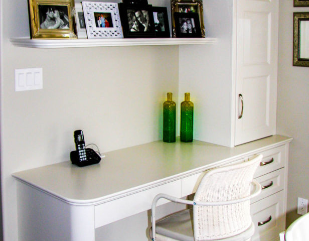Home Office Desk with Curved Corner