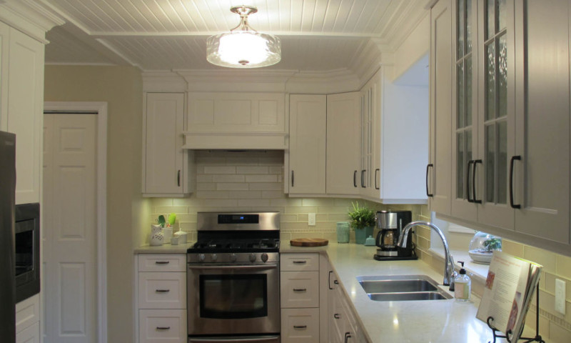 Traditional Painted Galley Kitchen
