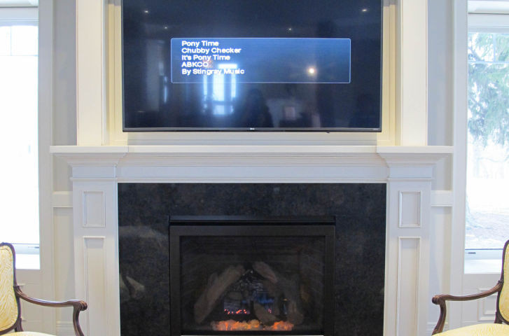 Fireplace Mantle with Hidden Storage