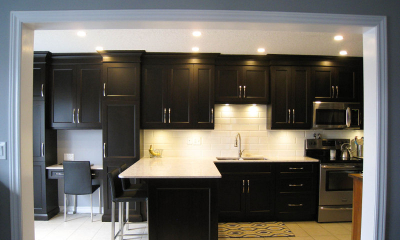 Dark Maple Kitchen