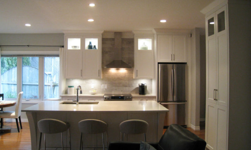 Open Concept Painted Kitchen