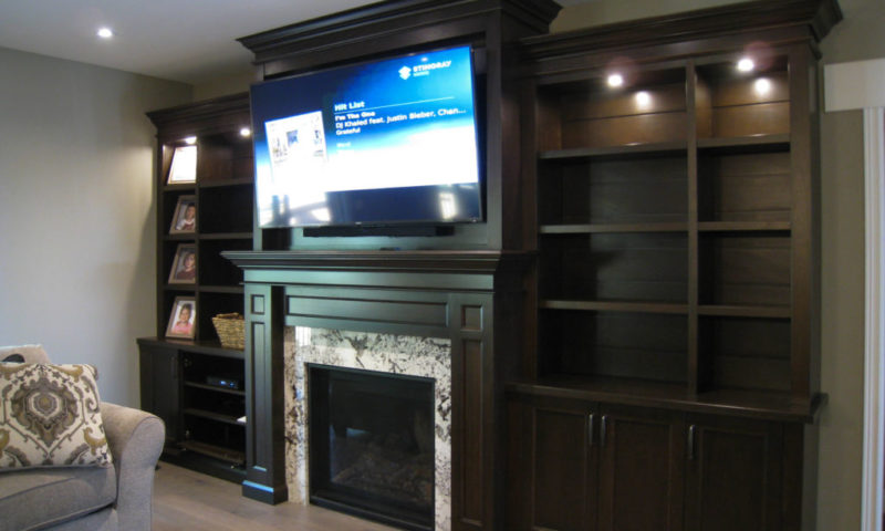 Transitional Wood Wall Unit